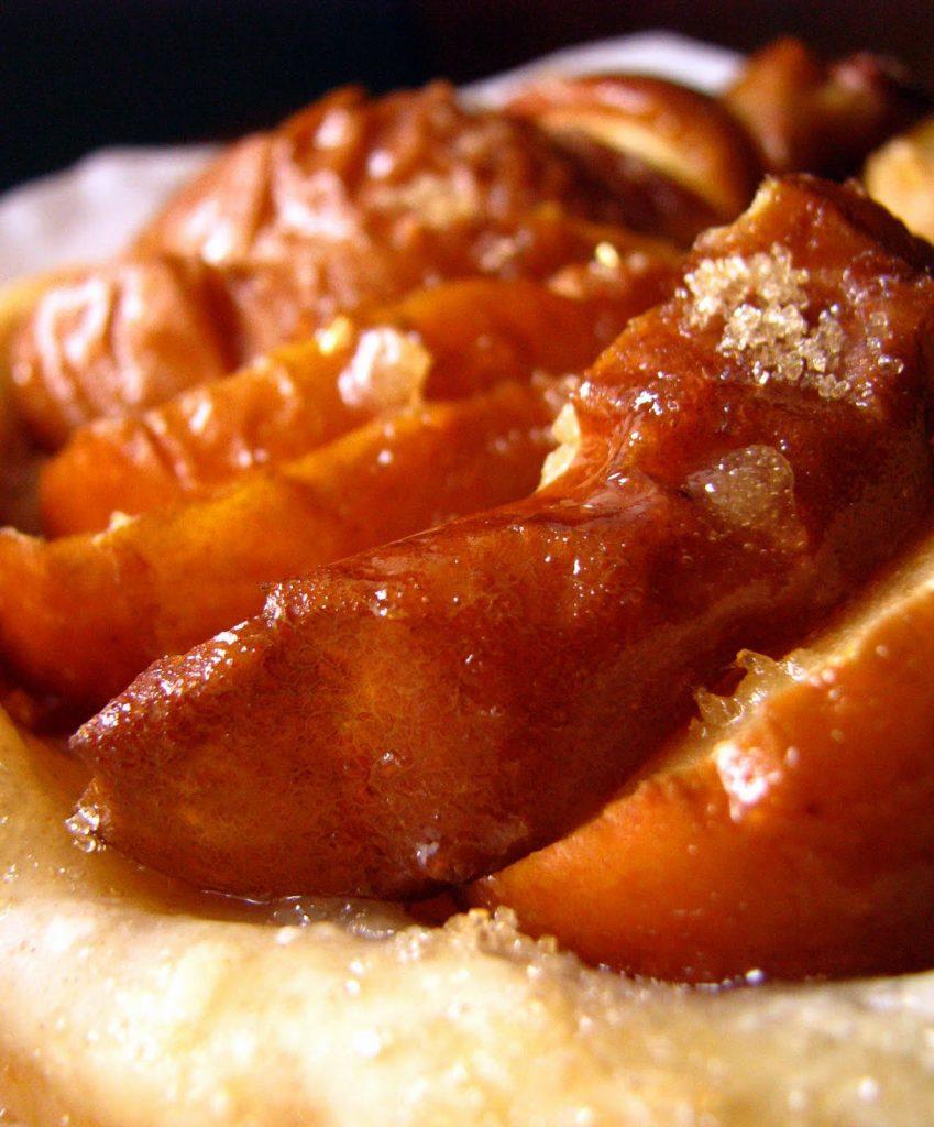 Tarte aux pommes cuites au four