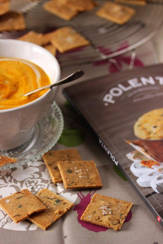 Crackers sans gluten a la polenta et à la farine châtaigne
