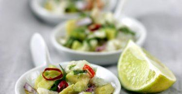 Ceviche de poisson mariné au citron vert