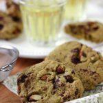 Cookies vegan au matchaet chocolat noir