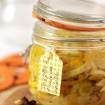 Courgettes à l'huile de noisette en bocal