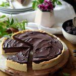 Tarte sablée à la ganache au chocolat noir