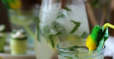 Limonade citron-citron vert gingembre et menthe