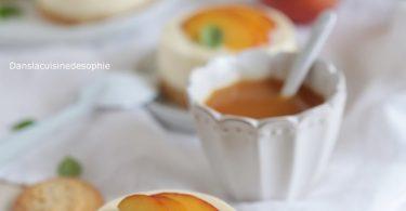 Mini cheesecake aux pêches
