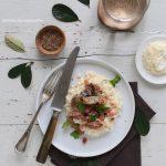 Risotto aux champignons et aux lardons