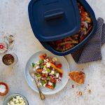 Plat de légumes au zaatar, féta et persil cuit au Micro pro grill Tupperware