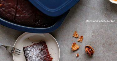Brownie rapide au chocolat cuit dans le Micro pro grill Tupperware