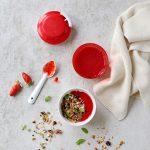 Coulis de fraises et granola aux cramberries maison