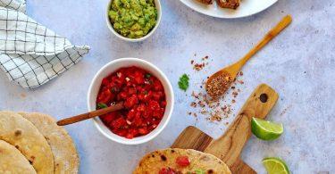 Fajitas au poulet et aux épices