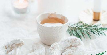 Vanille Kipferln biscuits de noël en forme de croissant de lune