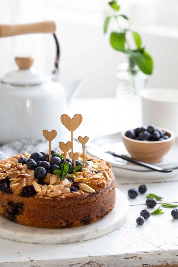 Gâteau aux myrtilles, citron et amandes de Yottam Ottolenghi