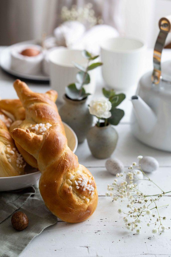 Petites brioches en forme de lapin pour Pâques