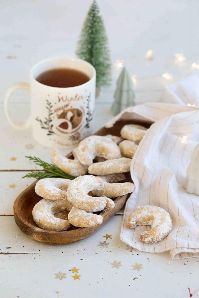 Biscuits de noël à la poudre d'amandes et vanille pour noël