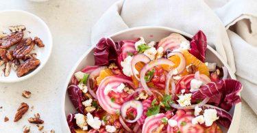 Salade végétarienne aux betteraves et orange