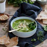 Soupe végétarienne Spanakopita