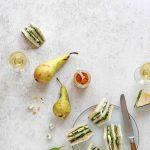 Tapas club sandwich à la poire et fourme d'Ambert