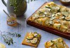 Tarte fine aux courgettes et fromage frais