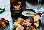 Brochettes de poulet au chorizo et épices avec bière Grimbergen