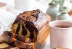 Gâteau marbré facile au yaourt vanille et cacao