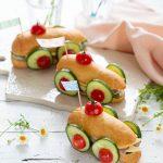 Voiture sandwich food art