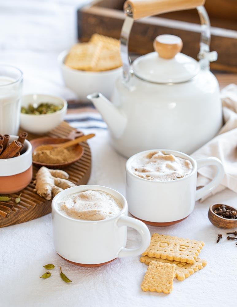Chaï latte masala Nomie avec mousse de lait aux épices