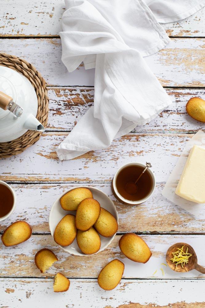 Madeleines pur beurre au zestes de citron pour le goûter.