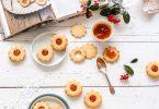 Sablés marguerite à la confiture d'abricots