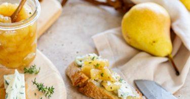 Chutney de poires au miel pour fromage à pâte persillée