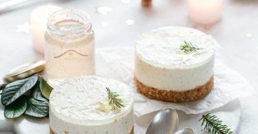 Cheesecake individuel sans cuisson à la gelée de champagne