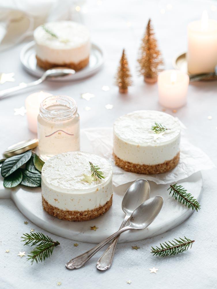 Recette de cheesecake sans cuisson au mascarpone et à la gelée de champagne Francis Miot