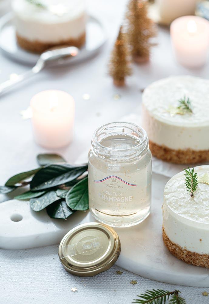 Gelée au champagne de la Maison Francis Miot pour accompagner des desserts ou des plats de fête.