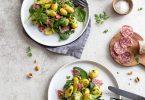 Salade de pommes de terre au saucisson façon bistrot