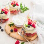 Dessert façon tiramisu aux fruits rouges