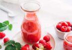 Smoothie fraise framboise maison
