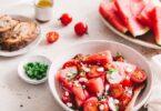 Salade pastèque, tomates, radis et féta